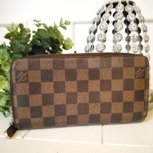 Louis Vuitton Damier Ebene Zippy Long Wallet